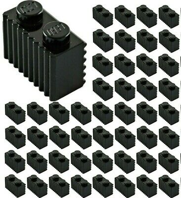20 Or 40 Pieces 2877 1x2 BLACK Grille Wall Panel Bricks 10 LEGO