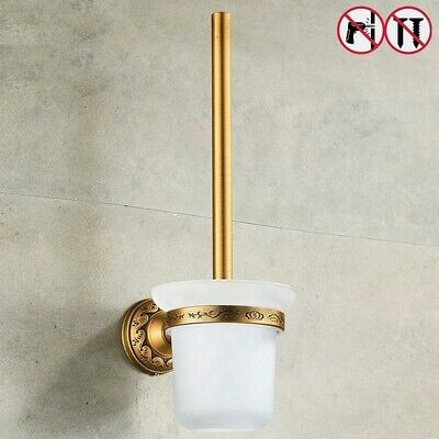 Toilet Brush Holders Brass Antique Bronze Bathroom Durable Nail Free Accessories