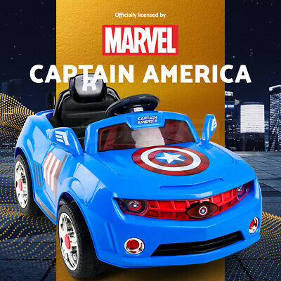Kids Ride On Car Marvel Licensed Captain America Electric Toys Cars Childrens