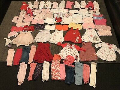 Baby Girls 0-3 Months Clothes Bundle 75 Items