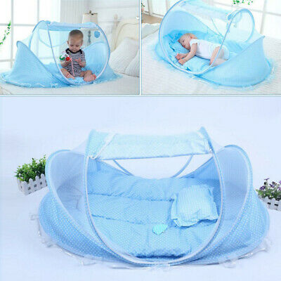 Baby Foldable Mosquito Net Portable Travel Infant Bed Tent Crib Mesh Mat