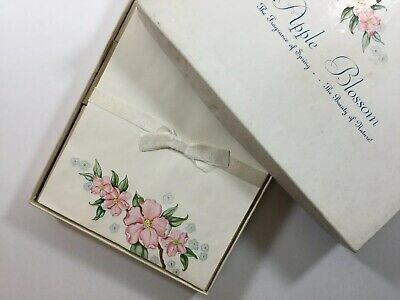 Vintage Apple Blossom Letter Writing Stationary Paper In A Box Set ~ 56 Sheets