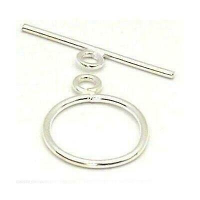Sterling Silver Toggle Clasp Necklace Beading 15mm Part