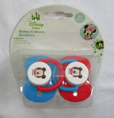 Pack of 2 Baby Boys DISNEY Baby Mickey & Minnie SOOTHERS Dummies