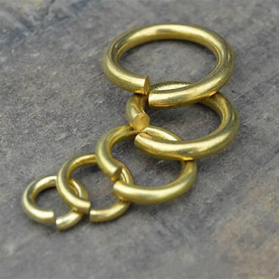 11000PCS//500g Brass Open Jump Rings Close But Unsoldered Loop Jewelry Making 4mm