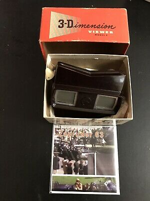 JFK Kennedy assassination: vintage viewmaster plus compatible modern 3D reel