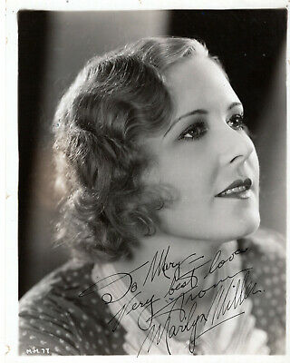 Tragic Stage & Film Actress Marilyn Miller ,Rare Signed Vintage Studio Photo.