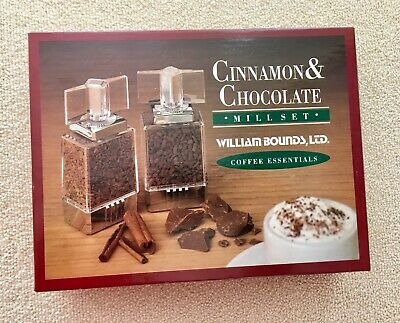 William Bounds Coffee Essentials Cinnamon & Chocolate Mill Set Spice Grinders