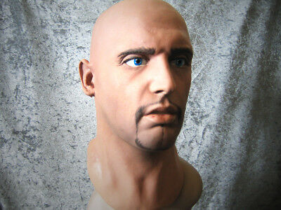 Latex Mask MORGAN +EYES - Real. Male Effect Rubber Gum Man Face Disguise Guy