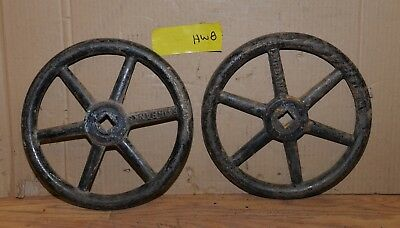 "2 Fairbanks valve hand wheel industrial 12"" diameter collectible steam punk HW8"
