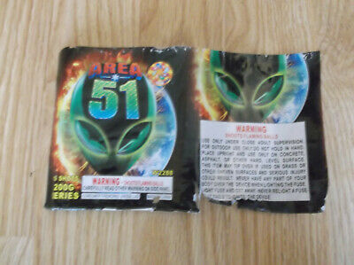 AREA 51 Firework Collectible Label