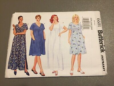 6601 Butterick Misses Womans Petite Dress VERY Easy Sz 22W-26W Sewing Pattern UC