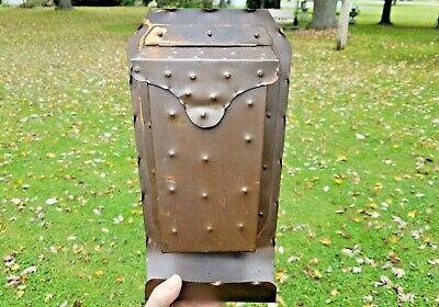 Mission Arts Crafts DRUMGOLD Hammered Copper HAND WROUGHT Wall Mount Mail Box
