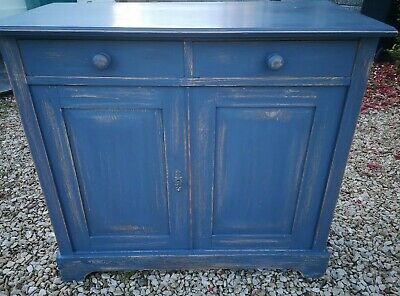Antique Gustavian Grey Painted Pine Hall Larder Linen Cupboard Cabinet