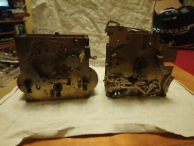 Two Part Clock Movements For Spares Or Repairs