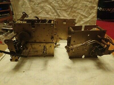 Three Part Clock Movements For Spares Or Repairs