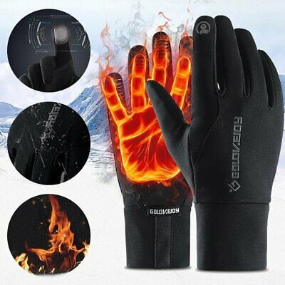 Thermal Leather Gloves Men Winter Warm Touch Screen Driving Gloves Gifts Xmas