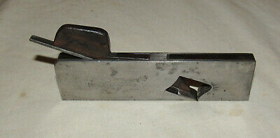 Small sized rebate plane with wooden infill old woodworking tool wood plane
