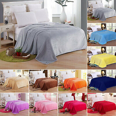 Warm Coral Fleece Blanket Throw Soft Plush for Home Sofa Double King Single Bed