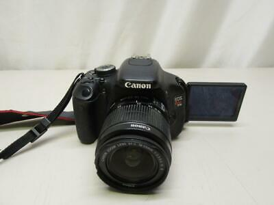 Canon EOS Rebel T3i With 18-55mm Lens 18MP Digital SLR Camera Black USED