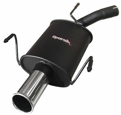 Vauxhall Corsa C 1.0 12v  Sportex Exhaust Tailbox Single 3""