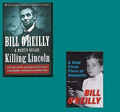 DEATH OF LINCOLN + KENNEDY~Lot 5 BILL O'REILLY HB Books~FRESH PIECE HUMANITY+!!