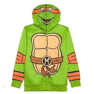 TMNT Teenage Mustant Ninja Turtles Hoodie Boy/'s sz 7 Zip-Up Costume Jacket NWT
