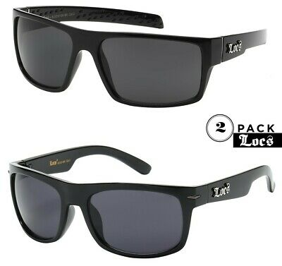 LOCS 91058 Black SunglassesAuthentic Gangster Maddogger OE Silver Arms Shades
