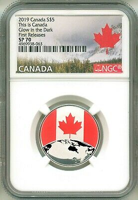 2019 S$5 Canada This Is Canada Glow In The Dark First Release NGC SP70