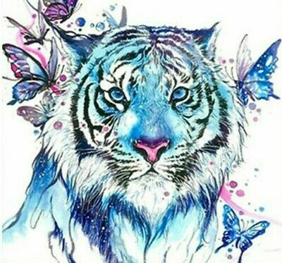 QA/_ DR7 Lion Pattern DIY Resin Diamond Painting Embroidery Cross Stitch Home D