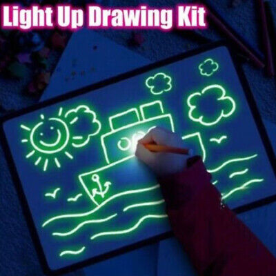 A5 LED Light Drawing Board Sketch Doodle Writing Drawing Educational Toys