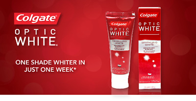 COLGATE OPTIC WHITE SPARKLING WHITE TOOTHPASTE 75ml (100g) (PACK OF 2)