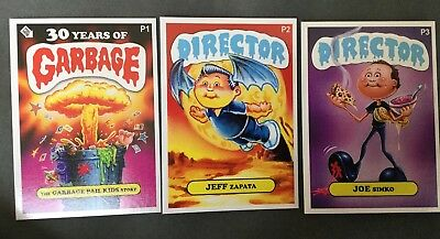 2017 Sdcc The Garbage Pail Kids Story Promo Card Set Of 3 Zapata Simko P1-3 Gpk