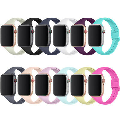 For Apple Watch 38mm/40mm Solid Color Replacement Sport Silicone Watch Band