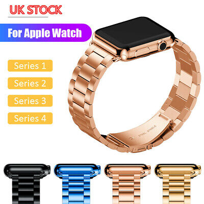 Stainless Steel Strap for Apple Watch Band 38/40/42/44mm Bracelet Metal Links UK