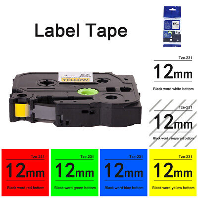 Compatible Label Maker Tape 12mm for Brother P-Touch TZ-231 TZe-231 PT-D210