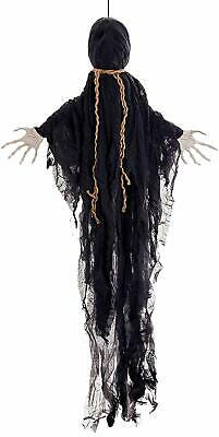 Halloween Haunters Life-Size Animated Hanging Faceless Speaking Reaper Prop