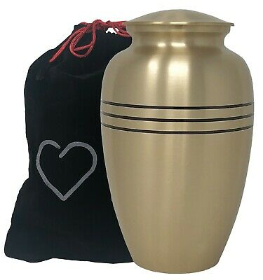 Momentful Life Metal Adult Cremation Urn - Classic Bronze Cremation Urn