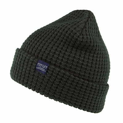 Joules Hats Bamburgh Waffle Knit Beanie Hat - Forest