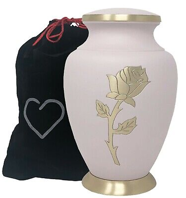 Pink Rose Cremation Urn - Adult Cremation Urn - Full Size Urn for Human Ashes
