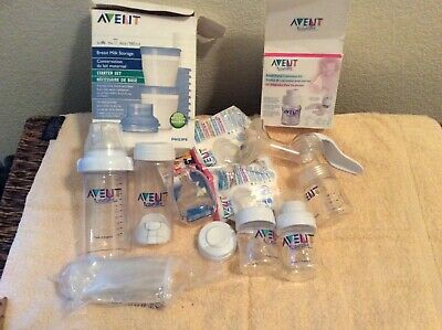 Avent  breast feeding pump with supplies