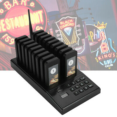 Restaurant Paging Queuing System 999CH 433.92MHz  +18pcs Calling Coaster Pagers