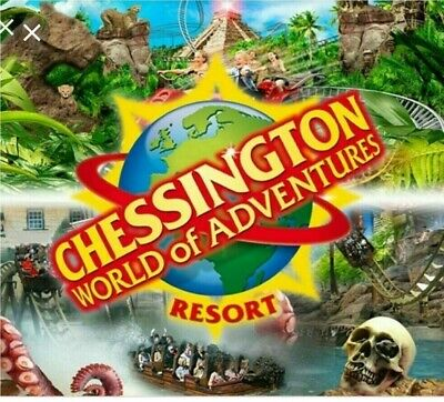 Chessington world 2x tickets Wednesday 23/10/2019