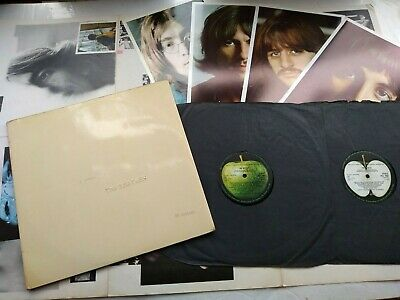 The Beatles-White Album-UK 1968 1st press LP + inserts low number 0041135 superb