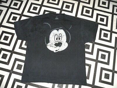 Vintage 90S Mickey Mouse T  Shirt Gc   Hipster Festival Rave Oversized L Unisex