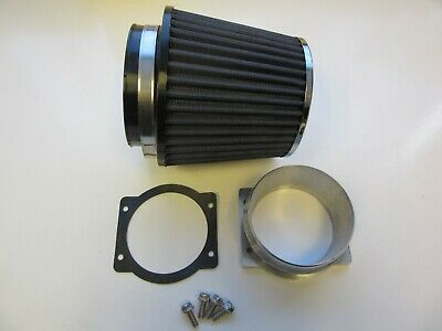 Z32 MAF Adaptor & Air Filter (BLUE/CHROME) 300ZX, Skyline GTS (R32, R33, R34)