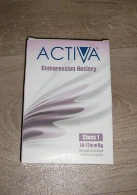 Activa Black Compression Hosiery Class 1  Xlarge **New**