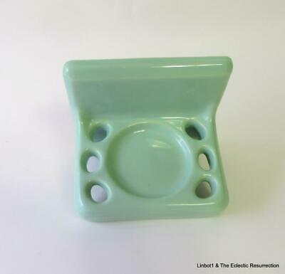 Vintage Seafoam / Ming Green Toothbrush Holder Bathroom Fixture Crown Japan 60s