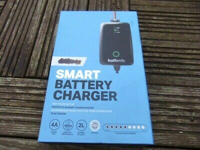 Halfords Electronic Smart Car Battery Charger Fast/Trickle Modes 4 AMP