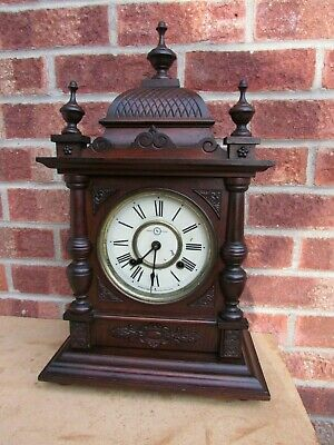 Mahogany 8 Day Striking Mantle Clock by Seikosha C1900